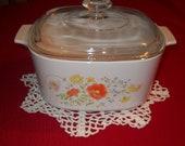 Vintage Casserole dish, Vintage Corningware, Vintage Kitchen item, Corning ware