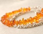 Amber Honey Beads Bracelet