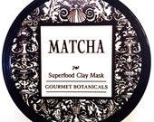 Matcha, Green Tea, Superfood Clay Detox Mask, for Luminous and Glowing Skin