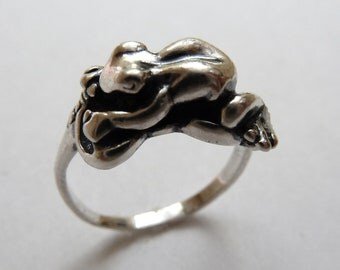 Sterling Silver Frog on Lilypad