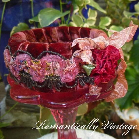 Boho Gypsy Bangle, Embellished Bracelet, Shabby Chic Jewelry, Outdoor Wedding, Statement, Boutique