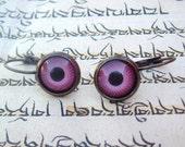 Pink Eyeball Handmade Earrings