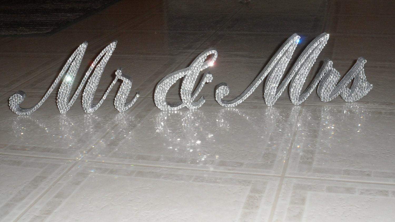 Swarovski Crystal MR MRS Standing Wedding