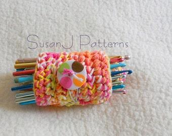 Crochet Pattern PDF - Crochet Hook Roll Up Organizer