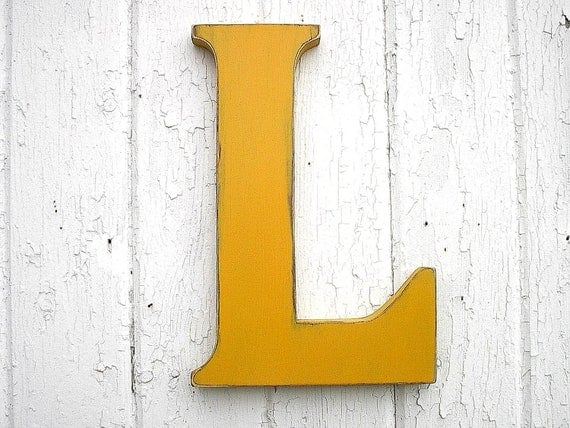 Wooden letters l 12 inch kings gold big kids wall art nursery for Large letter k wall decor