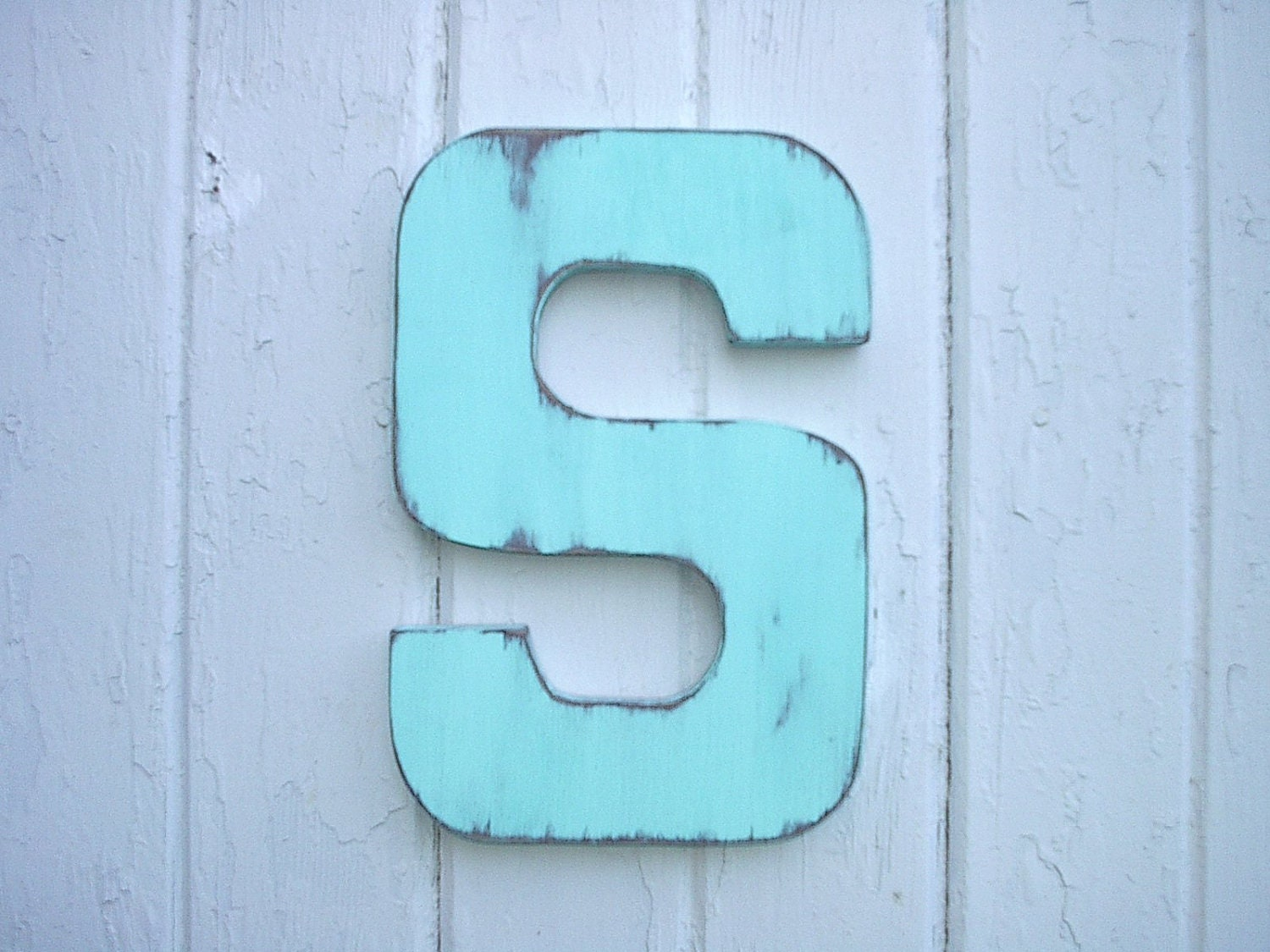 Shabby chic rustic wooden letter s wall art cabin cottage zoom amipublicfo Image collections