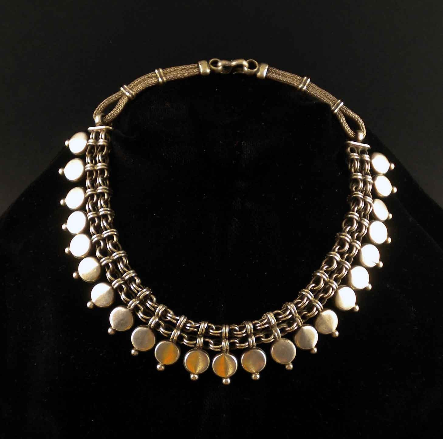 sterling silver vintage necklace from india