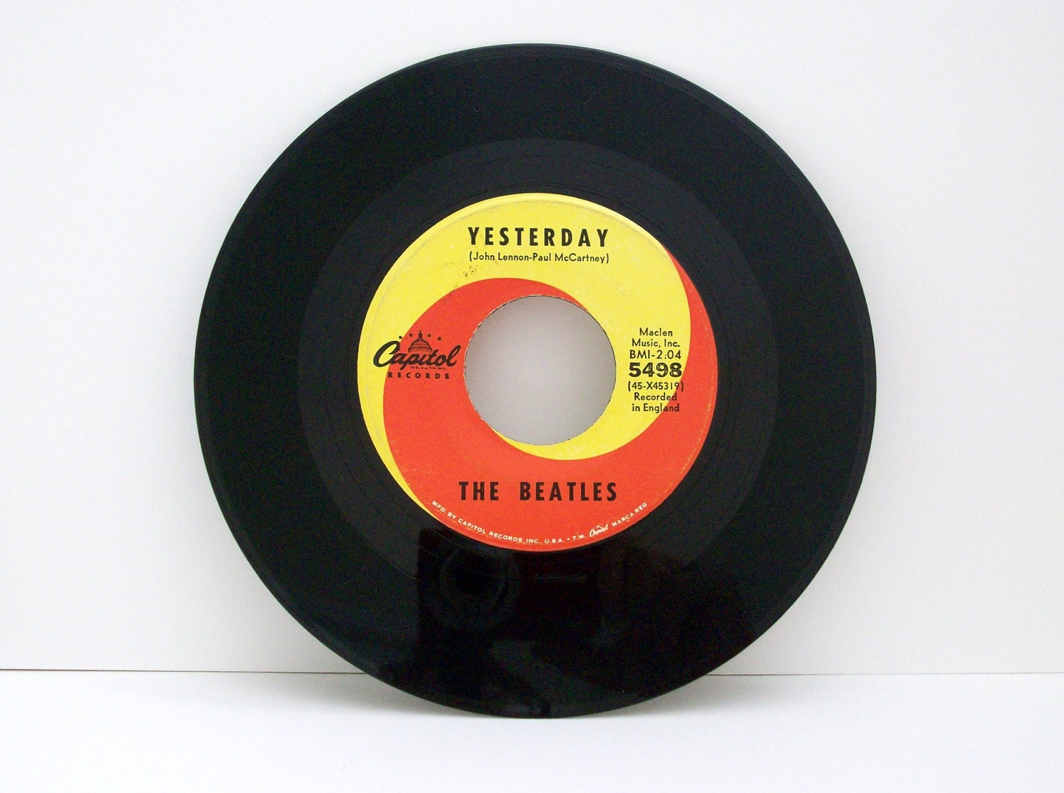 45 Vinyl Record The Beatles Yesterday Act Naturally 5498
