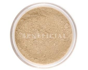 Mineral Makeup Foundation - MEDIUM BEIGE Cover Up Makeup - Natural Vegan Minerals