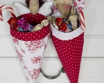 Christmas Angel Doll Tilda Ornament Cute Cones