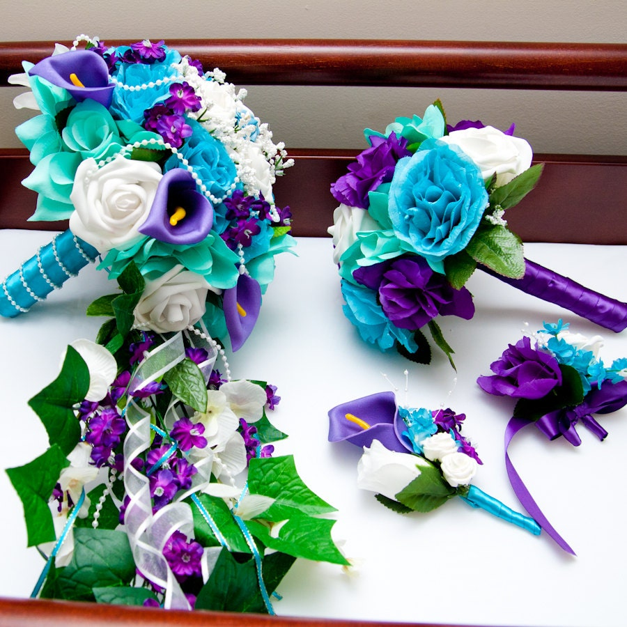 Aqua And Purple Wedding Inspiration