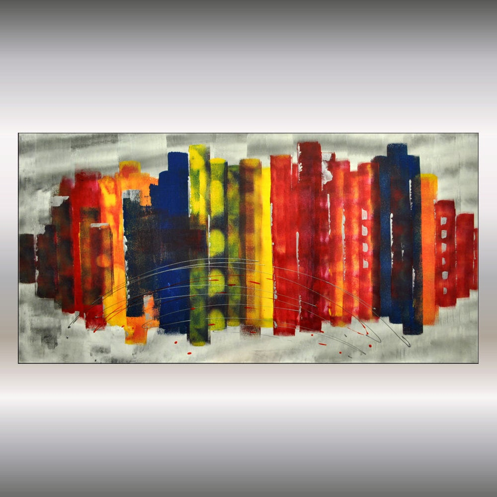 Colorful Abstract Canvas Art 24 by Canvas Art Colorful
