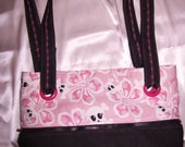 Pink- Hibiscus Ghost convertible purse/tote
