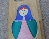 Hand Painted Russian Nesting Doll Cutting Board