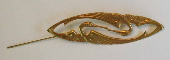 Art Deco style Brooch is unique and would make a great gift for a bird-lover.