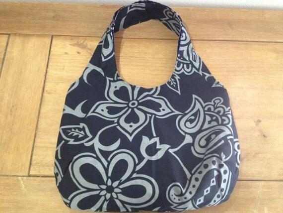 Hawaiian print reversible bag