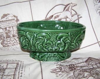 Green Planter Green Pottery Planter Oval Planter