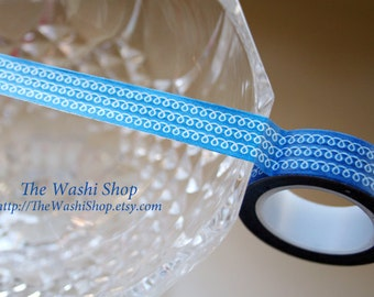 Blue Swirls Washi Tape