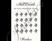 20 Nail Decals - Chinese Dragon (Black)