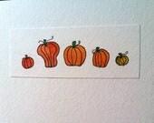 Row of Pumpkins- Original
