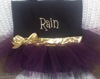 Double skirted Tutu bag, cheer bag, gymnastics bag, dance bag, wedding bag, ballet bag