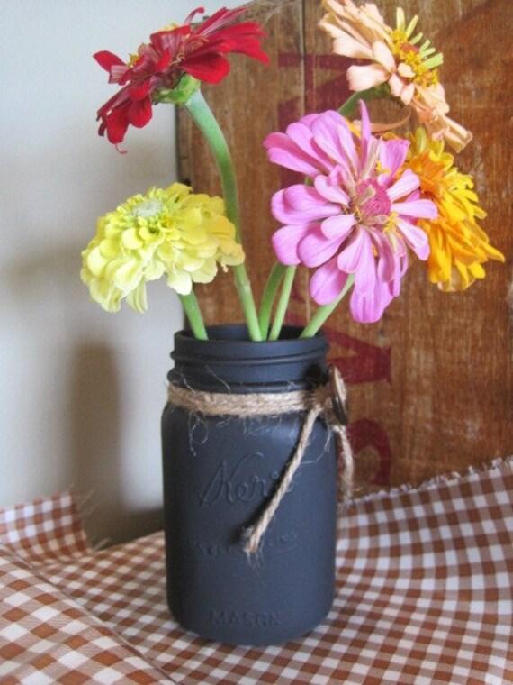 Repurposed Chalkboard Painted Jar/Vase