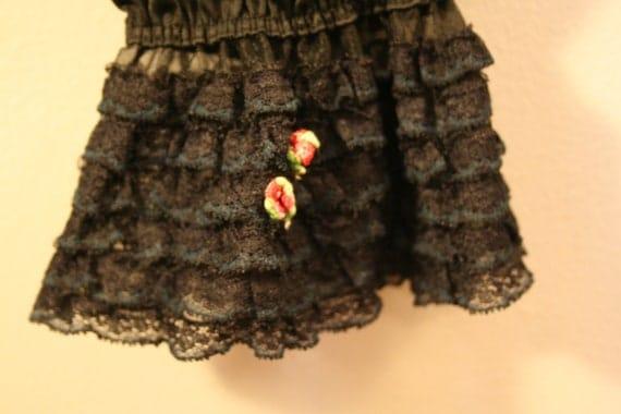 Vintage black nylon bloomers, pettipants