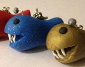 Anglerfish Keychain (Handmade, Polymer Clay)