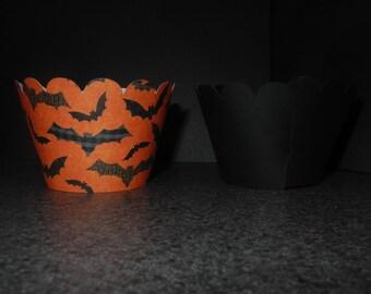 Halloween Bat Cupcake Wrappers- Set of 12