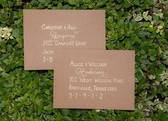 Custom Handwritten Wedding Calligraphy Envelope Addressing, Place Cards, Escort Cards, Invitations, Seating Charts, Menus