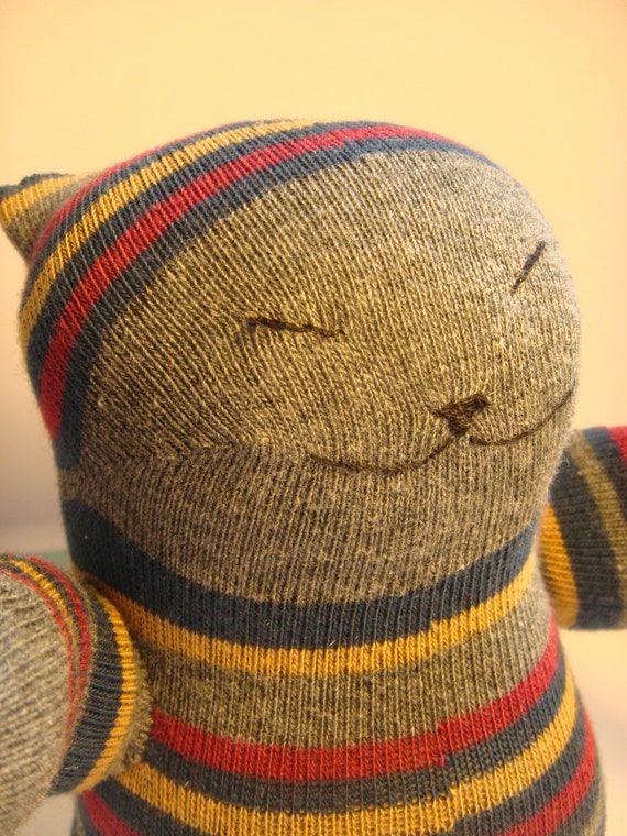 RESERVED FOR SNOWY Sock  Siamese Japanese Cat Plush