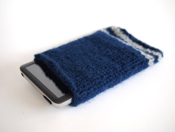 hand knit harry potter ravenclaw ipod sleeve case