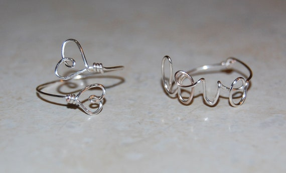 Two Hearts and Love Ring Set