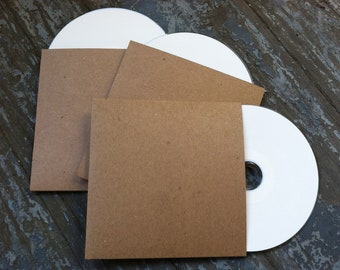50 Blank CD Sleeves/Cases/Packaging-For Bands/Photographers/Wedding Favors