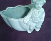 Vintage Ceramic Little Boy Blue Planter Vase CenterPiece Trinket Figurine Home Decor