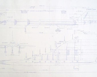 Concord Supersonic Plane Blueprint