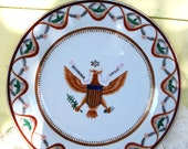 Epluribus unum hand painted UNIQUE plate from 1981 The Srednick Collection