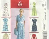 Sale 50% Off  UNCUT Size 16-18-20-22 Misses/Miss Petite Shirt Dress Pattern 6 Great Looks 1 Easy Pattern McCall's M4769