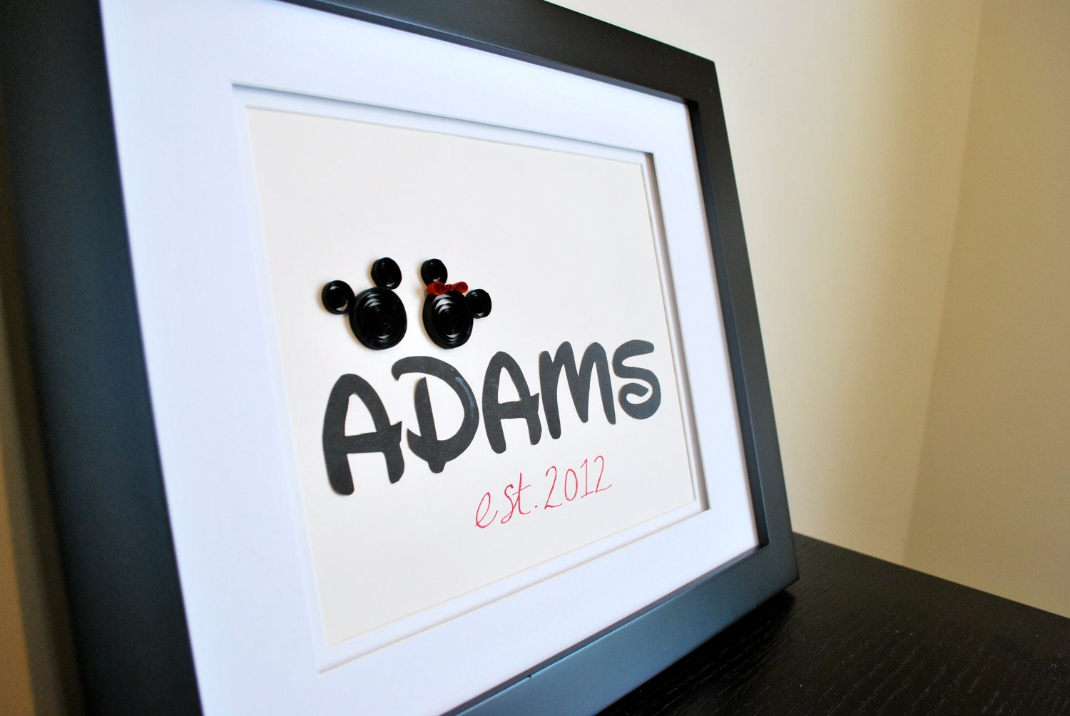 Personalized Disney Wedding Gifts: Personalized Mickey Mouse Gift For Wedding Anniversary Or