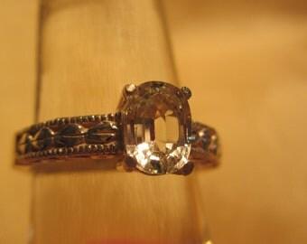 Grossular Garnet Sterling Silver Ring