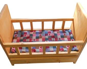 Hand made all wood american girl doll crib