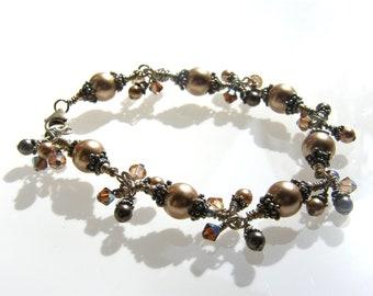 Bronze - Tropical Chain Silver Bracelet