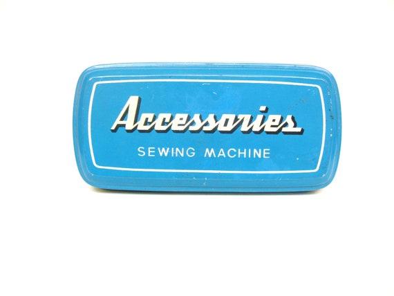 Vintage Sewing Machine Accessories Tin