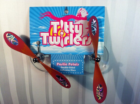 Titty Twirlers - Propeller Pasties - Orange/Pink