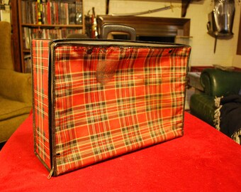 Plaid Suitcase, Tartan Luggage, Collapsible Luggage, Folding Bag
