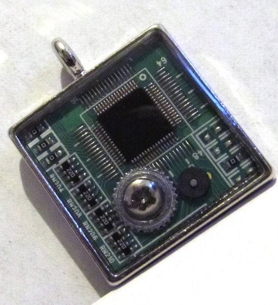 Geekery Modified Computer Chip Resin Pendant
