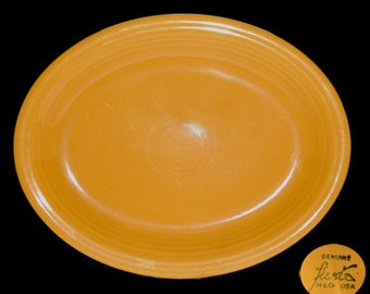 Vintage Fiesta Homer Laughlin Co. Yellow Oval Serving Platter