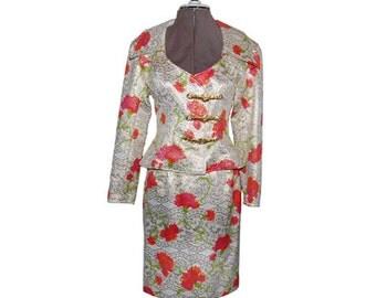 Vintage Christian LaCroix 2-Pc. Floral Formal Suit - Paris