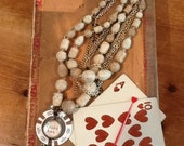 Vintage Restyle Poker Chip Casino Necklace / Sure Bet