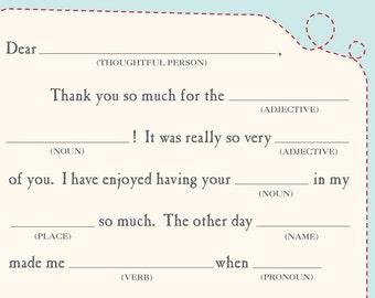 Printable Teacher Thank You Card